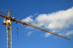 Gru di costruzione alta Immagine Stock Libera da Diritti