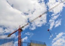 Gru di costruzione della torre Immagine Stock Libera da Diritti