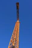 Gru di costruzione gialla Immagine Stock Libera da Diritti