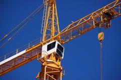 Gru di costruzione gialla Immagini Stock