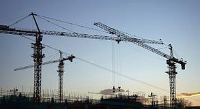 Gru di costruzione industriali Immagini Stock Libere da Diritti