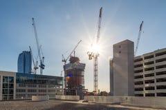 Gru di costruzione, Los Angeles del centro Immagini Stock