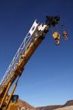 Gru di costruzione mobile Fotografia Stock