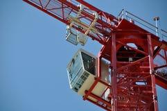 Gru di costruzione rossa della torretta Immagine Stock