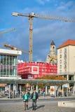 Gru di costruzione su un cantiere a Dresda Fotografie Stock