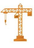 Gru di costruzione in uno stile piano Fotografia Stock
