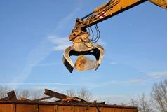 Gru di demolizione Fotografie Stock