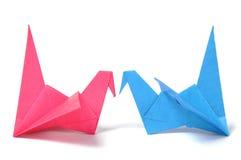 Gru di Origami Fotografie Stock