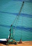 Gru di riposo nel porto di Barcellona Fotografia Stock