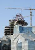 Gru e costruzione Fotografia Stock