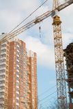 Gru e costruzione Immagini Stock