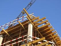 Gru e costruzione Immagini Stock Libere da Diritti
