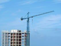 Gru e costruzione Fotografia Stock Libera da Diritti
