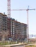 Gru e costruzione di costruzione industriali Immagine Stock