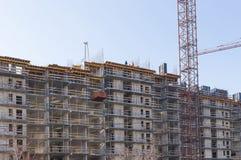 Gru e costruzione di costruzione industriali Fotografia Stock