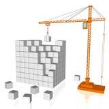 Gru e cubi Illustrazione di Stock