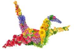 Gru giapponese dai fiori Immagine Stock