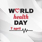 Gru?karte f?r Weltgesundheits-Tag Vektor vektor abbildung