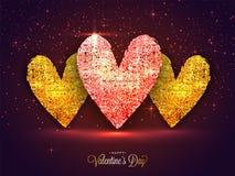 Gruß-Karte für Valentinsgruß ` s Tagesfeier Stockfotografie