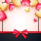 Gruß-Karte für Valentinsgruß ` s Tagesfeier Lizenzfreies Stockbild