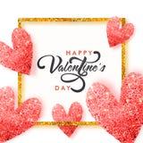 Gruß-Karte für Valentinsgruß ` s Tagesfeier Lizenzfreies Stockfoto