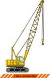 Gru Macchine della costruzione pesante Vettore Immagini Stock