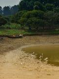 Gru misera della barca Fotografia Stock Libera da Diritti