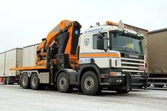 Gru mobile di Scania G420 Fotografie Stock