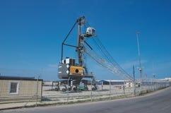 Gru mobile Liebherr LHM 180 del porto Fotografia Stock