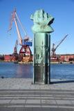 Gru nel porto Gothenburg Svezia Immagine Stock