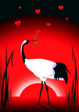 Gru nell'amore royalty illustrazione gratis