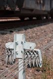 Gru per il commutatore dei binari ferroviari immagine stock
