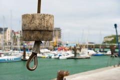 Gru in porto Dieppe Fotografia Stock Libera da Diritti