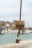 Gru in porto Dieppe Fotografie Stock Libere da Diritti