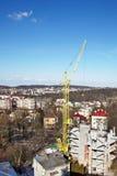 Gru a torre di palazzo multipiano Fotografie Stock