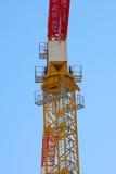 Gru a torre rossa Fotografia Stock