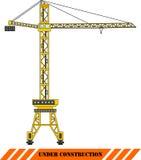 Gru a torre rossa Macchine della costruzione pesante Vettore Fotografia Stock