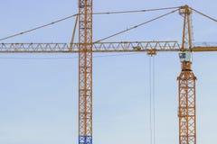Gru a torre sul cantiere a Stoccolma Svezia Fotografia Stock