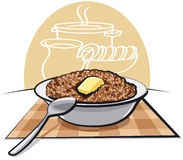 Gruau bouilli de sarrasin illustration stock