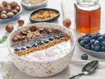 Gruau sain de sarrasin de petit déjeuner Photos libres de droits