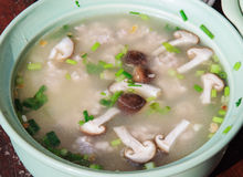 Gruau thaïlandais avec le champignon de couche Photo libre de droits