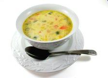 grubą zupy rybnej kukurydza obrazy stock