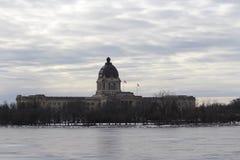 Grubbla Saskatchewan lagstiftande församling som bygger December Fotografering för Bildbyråer