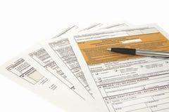 GRUBEN-Erklärung - polnisches Steuerdokument Lizenzfreie Stockfotos