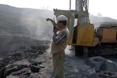 Gruben u. menschliche Arbeitskraft Stockbilder