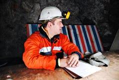 Grubenarbeitskraft Lizenzfreie Stockbilder