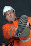 Grubenarbeitskraft, die fertig wird Stockfotografie