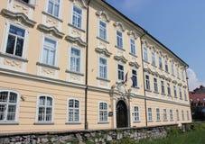 Gruber Palace - Ljubljana. Baroque facade of Gruber Palace in Ljubljana, Slovenia Royalty Free Stock Photo