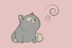 Grubi szarzy kota i abstrakta pierścionki Obraz Royalty Free