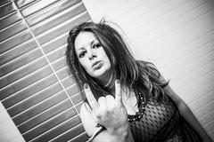 Grubiańska kobieta seksowna Zdjęcia Royalty Free